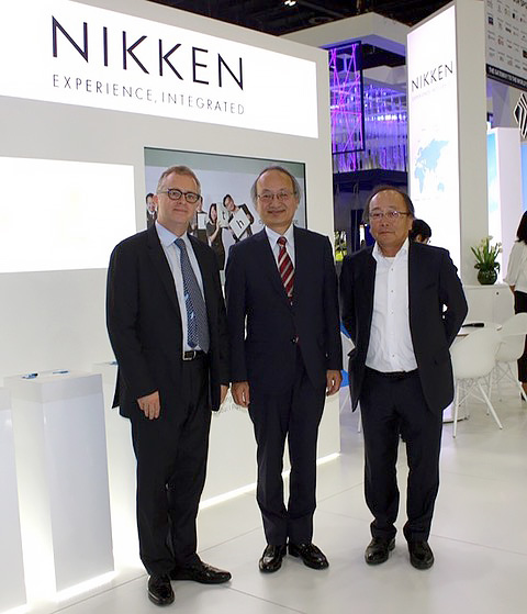 L to R – Dr. Jabri, Regional Director - Nikken Sekkei, His Excellency Mr Fujiki, the Japanese Ambassador to the UAE and Mr Kimura, Executive Officer - Nikken Sekkei